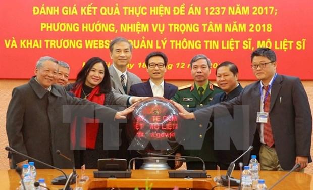 Inauguration d'un site web sur les soldats morts pour la Patrie hinh anh 1