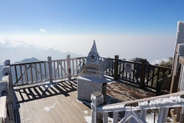 Le mont Fansipan a Sa Pa sous la neige hinh anh 1