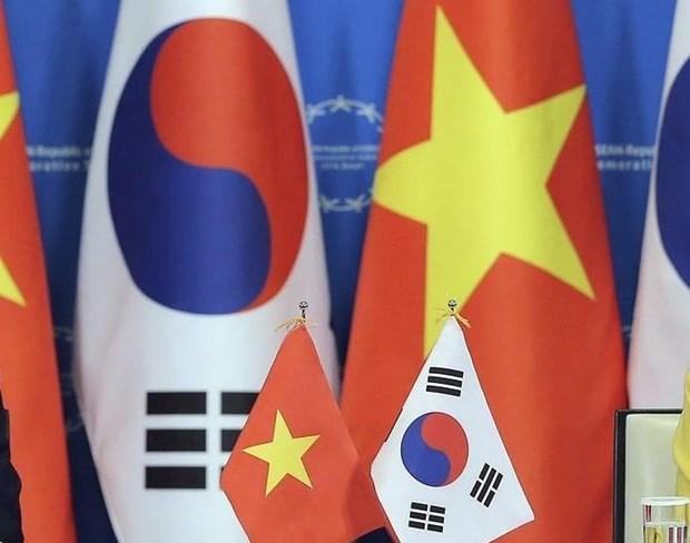 Echange de messages de felicitations pour les 25 ans des relations Vietnam - R. de Coree hinh anh 1