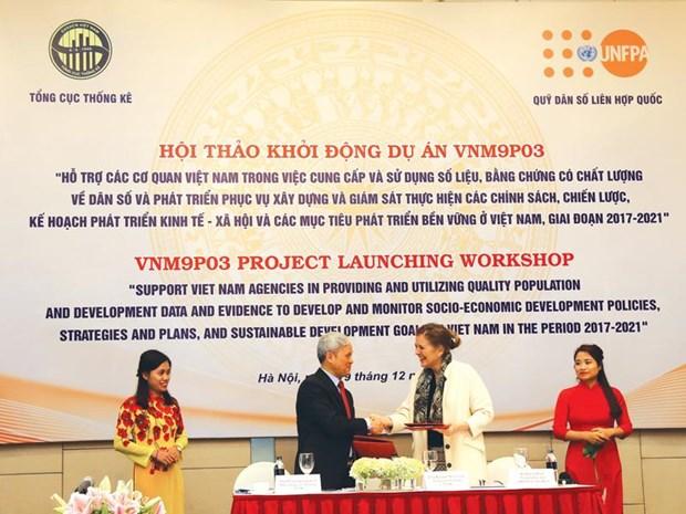 FNUAP: aide de 4,3 millions d'USD pour une base de donnees sur la demographie hinh anh 1