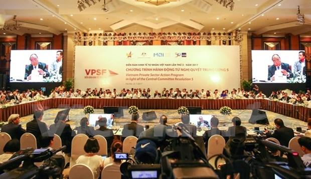 Publication des resultats du 2e Forum du secteur prive du Vietnam (VPSF II) hinh anh 1