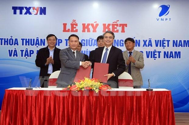 L'Agence vietnamienne d'Information et le VNPT renforcent leur cooperation hinh anh 1