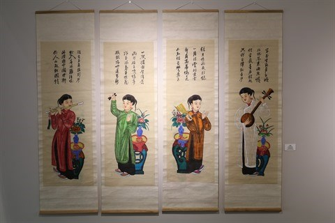 S-River presente son exposition sur les estampes populaires de Hang Trong hinh anh 1