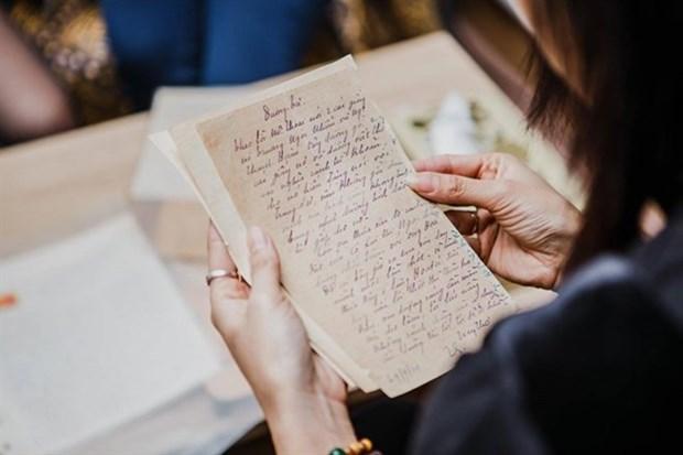 Une exposition rassemble des lettres manuscrites du siecle dernier hinh anh 1