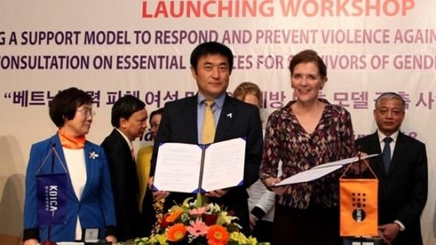 Lancement d'un projet de prevention de la violence contre les femmes et les filles hinh anh 1