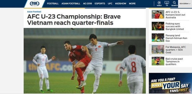 Football : la presse salue la performance de l'U23 Vietnam hinh anh 1