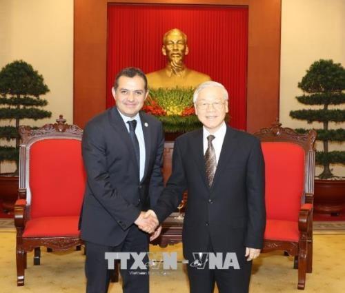 Nguyen Phu Trong appelle a renforcer les relations entre le Vietnam et le Mexique hinh anh 1
