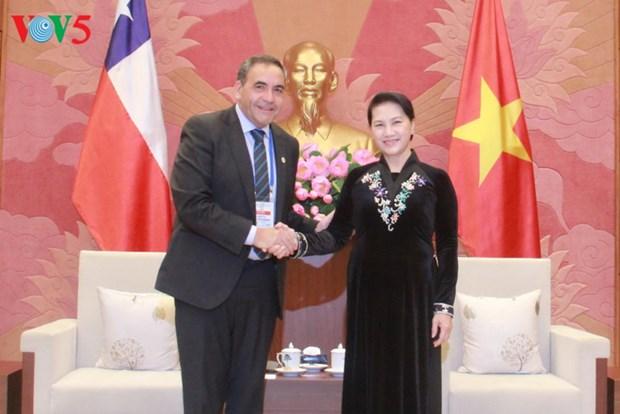 Nguyen Thi Kim Ngan recoit des dirigeants parlementaires du Cambodge et du Chili hinh anh 1