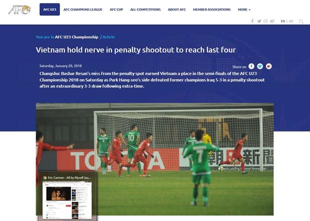 Football : les medias internationaux dithyrambiques apres la victoire du Vietnam face a l'Iraq hinh anh 2