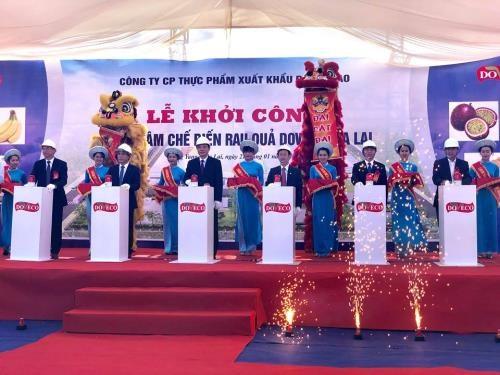 Mise en chantier du plus grand centre de transformation de fruits et legumes au Vietnam hinh anh 1