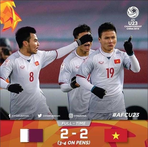 Les medias internationaux dithyrambiques apres la victoire du Onze vietnamien U23 hinh anh 1