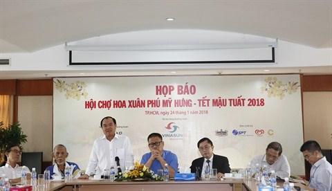 Foire printaniere aux fleurs de Phu My Hung 2018 hinh anh 1