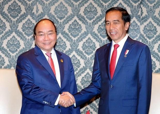 Le PM vietnamien rencontre les dirigeants cambodgien et indonesien en Inde hinh anh 1