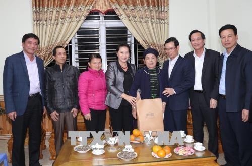 Nguyen Thi Kim Ngan formule ses vœux du Tet a Ha Giang hinh anh 1