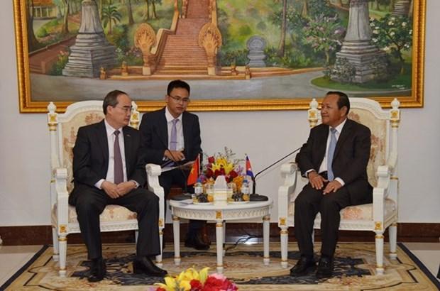 Une delegation de Ho Chi Minh-Ville au Cambodge hinh anh 1