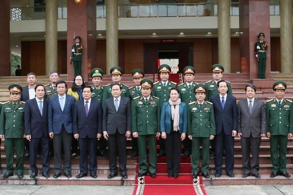 La presidente de l'Assemblee nationale continue sa tournee a Ha Giang et a Phu Tho hinh anh 1