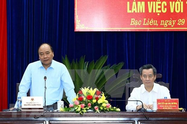 Nguyen Xuan Phuc en deplacement a Bac Lieu hinh anh 1