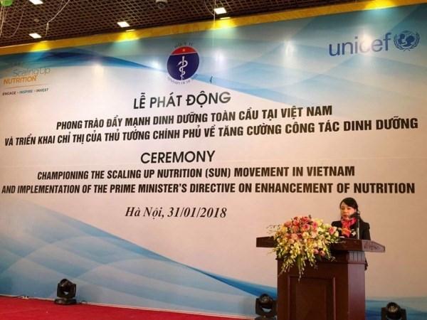 Nutrition : lancement du mouvement SUN au Vietnam hinh anh 1