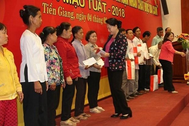 La presidente de l'AN formule ses vœux du Tet a Tien Giang et Ben Tre hinh anh 1