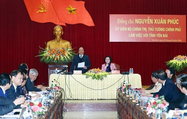 Le Premier ministre Nguyen Xuan Phuc en tournee a Yen Bai hinh anh 1