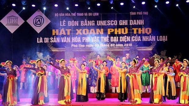Patrimoine : le « hat xoan de Phu Tho » recoit le certificat de l'UNESCO hinh anh 1