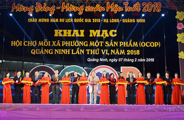 Ouverture de la foire OCOP de Quang Ninh 2018 hinh anh 1