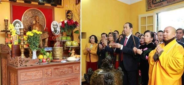 Des dirigeants multiplient les visites a l'approche du Tet du Chien hinh anh 1