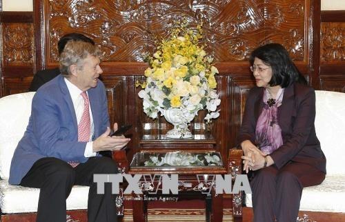La vice-presidente de la Republique recoit le directeur executif de l'ONG Operation Smile hinh anh 1