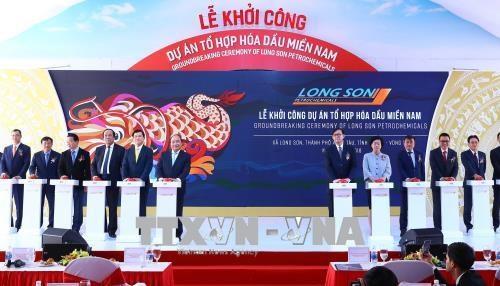 Le Premier ministre a la mise en chantier du complexe petrochimique du Sud hinh anh 1