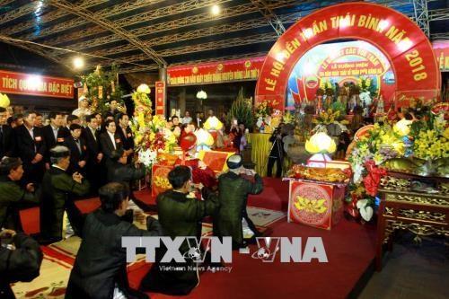 Debut de la Fete du Temple des rois Tran a Thai Binh hinh anh 1