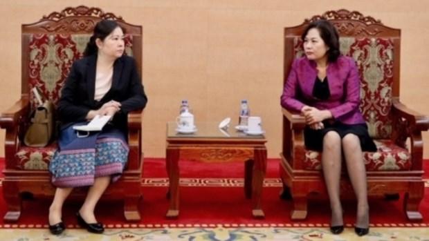 Le Vietnam et le Laos renforcent leur cooperation dans le secteur bancaire hinh anh 1