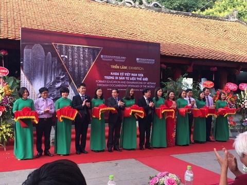 Exposition sur les concours mandarinaux d'antan a Hanoi hinh anh 1