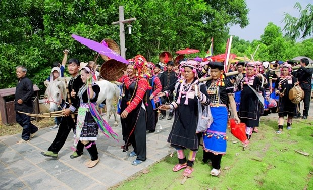L'art de creation des motifs chez les H'Mong, patrimoine culturel national hinh anh 1