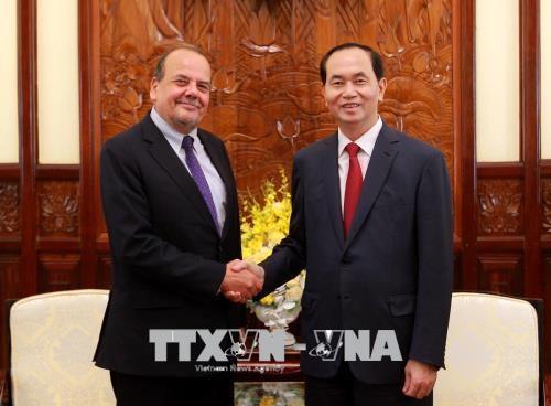 Le president Tran Dai Quang recoit l'ambassadeur chilien hinh anh 1