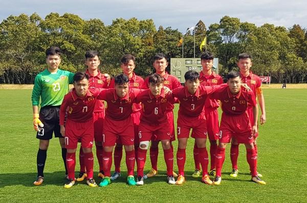 Le Vietnam se qualifie pour la finale du tournoi de football junior Japon-ASEAN hinh anh 1