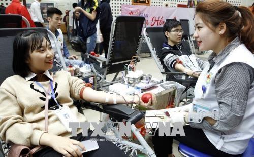 Quelques 10.200 poches de sang collectees lors de la fete du printemps rouge 2018 hinh anh 1