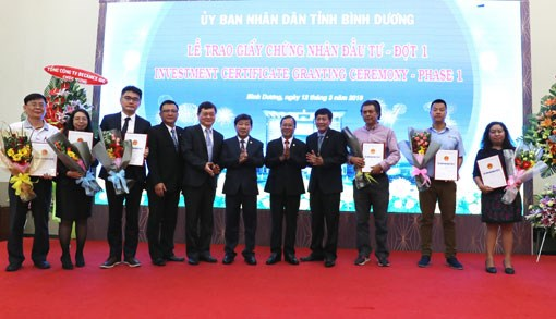 Binh Duong remet la licence a 19 projets d'investissement hinh anh 1