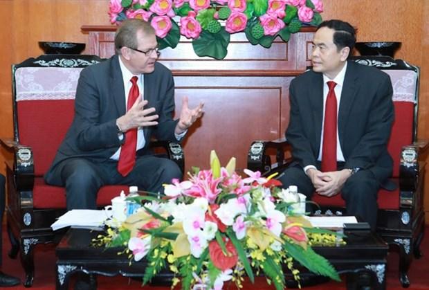 Une delegation de l'Eglise de Jesus-Christ des Saints des Derniers Jours au Vietnam hinh anh 1