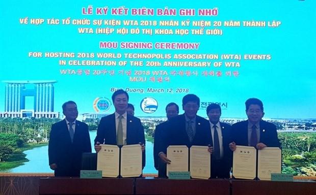 Des evenements de la World Technopolis Association a Binh Duong hinh anh 1
