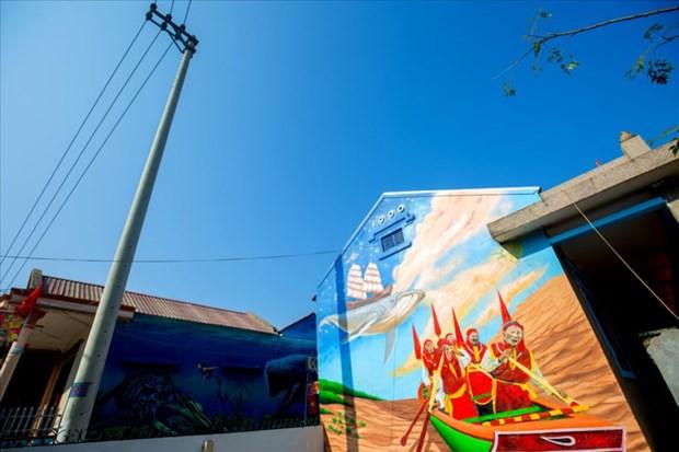 Les peintures murales du village de Canh Duong hinh anh 3