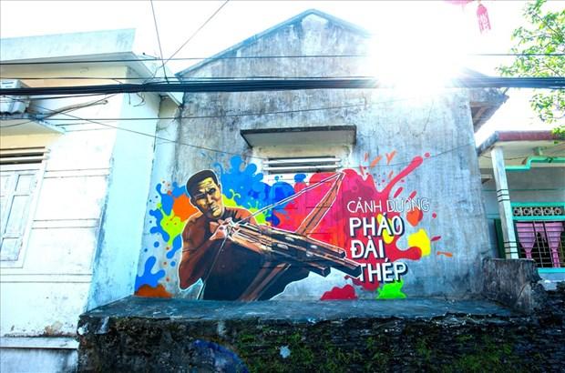 Les peintures murales du village de Canh Duong hinh anh 1
