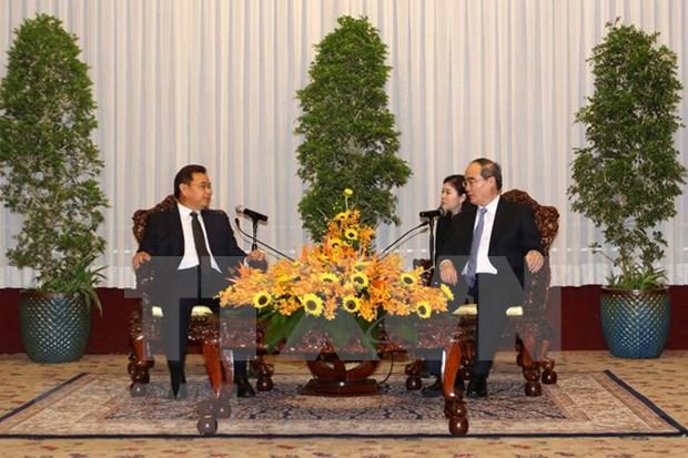 Ho Chi Minh-Ville souhaite renforcer sa cooperation avec le Laos hinh anh 1