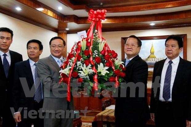 Le Vietnam felicite le Parti populaire revolutionnaire du Laos pour son 63e anniversaire hinh anh 1