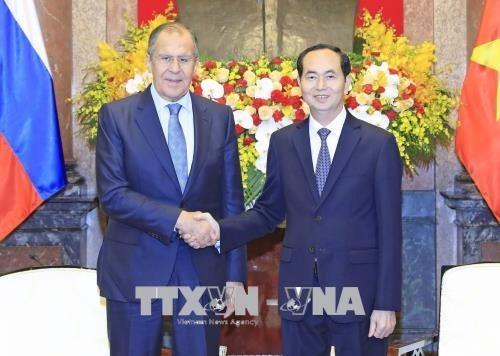 Le president Tran Dai Quang recoit le ministre russe des Affaires etrangeres hinh anh 1