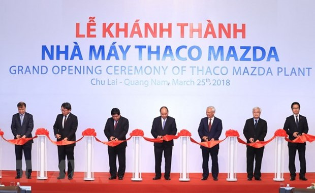 Inauguration de l'usine de production de voitures Thaco Mazda hinh anh 1