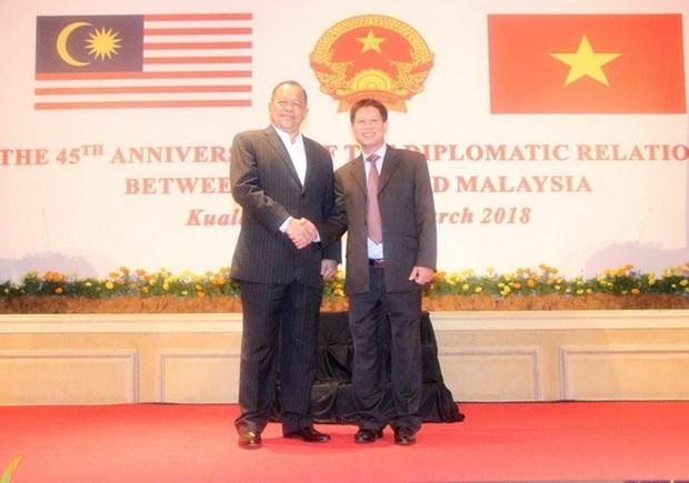 Celebration du 45e anniversaire des relations diplomatiques Vietnam-Malaisie hinh anh 1