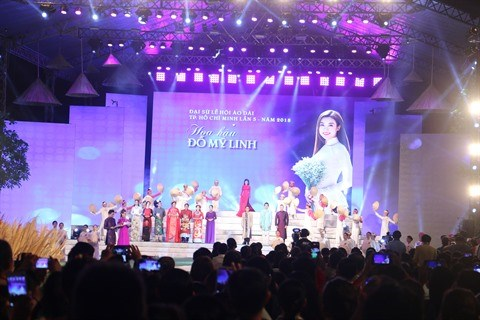 Cloture de la 5e edition du Festival de l'ao dai de Ho Chi Minh-Ville hinh anh 2