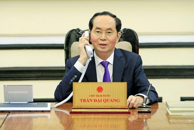 Conversation telephonique entre Tran Dai Quang et Vladimir Poutine hinh anh 1