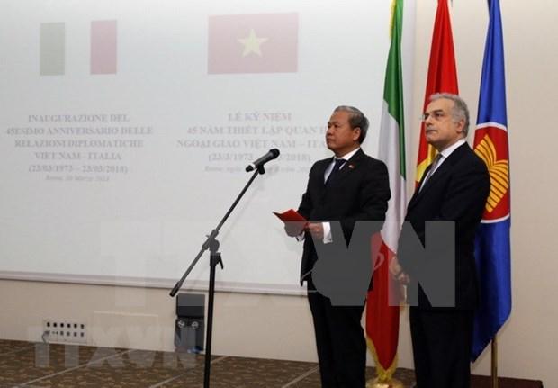 Les 45 ans des liens diplomatiques Vietnam-Italie celebres a Rome hinh anh 1