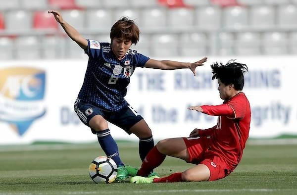 Football feminin : le Vietnam a ete battu par le Japon a Asian Cup 2018 hinh anh 1